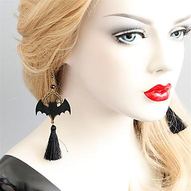 abordables Boucle d'Oreille-Femme Boucles d'Oreille Franges Courage Chanceux Mauvais œil Des boucles d'oreilles Bijoux Noir Pour Soirée Halloween 2pcs