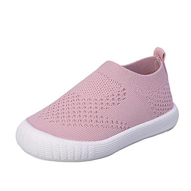 billige Mokasiner til barn-Gutt / Jente Flyknit En pedal Toddler (9m-4ys) / Små barn (4-7år) Komfort / Lysende sko Svart / Gul / Rød Vår / Høst