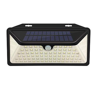 abordables Éclairage Extérieur-1pc 2 W Eclairages extérieurs muraux / Led Street Light / Lampe murale solaire Imperméable / Solaire / Capteur infrarouge Blanc 3.7 V Eclairage Extérieur / Cour / Jardin 102 Perles LED
