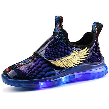 baratos LED Sapatos-Para Meninos / Para Meninas Flyknit Rasos Little Kids (4-7 anos) / Big Kids (7 anos +) Tênis com LED Caminhada LED Preto / Vermelho / Azul Outono / Inverno / Estampa Colorida