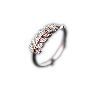 olcso Divatos gyűrű-Női Gyűrű 1db Vörös arany / Ezüst Réz / Platina bevonat Körkörös Alap / Koreai / Divat Ajándék Jelmez ékszerek