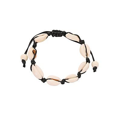 voordelige Herensieraden-Heren Dames Armband Gevlochten Schelp modieus Schelp Armband sieraden Zwart / Beige Voor Festival