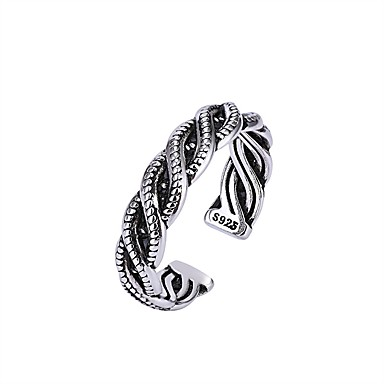 billige Motering-Herre / Dame Ring 1pc Sølv Kobber Sirkelformet Vintage / Grunnleggende / Mote Gave / Ferie Kostyme smykker
