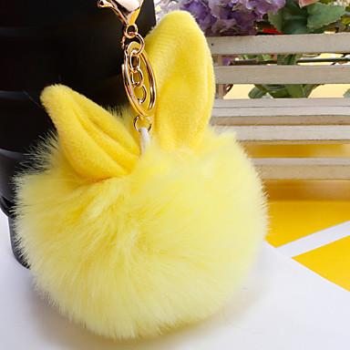 voordelige Dames Sieraden-Sleutelhanger Rabbit Koreaans Zoet Modieus Modieuze ringen Sieraden Zwart / Licht Roze / Wit Voor Dagelijks Afspraakje