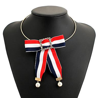 billige Mote Halskjede-Dame Halskjede Flettet Sløyfer Statement Tøy Svart 28 cm Halskjeder Smykker 1pc Til Karneval