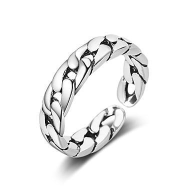 billige Motering-Herre / Dame Ring / Åpne Ring 1pc Sølv Kobber Sirkelformet Grunnleggende / Koreansk / Mote Gave / Daglig Kostyme smykker