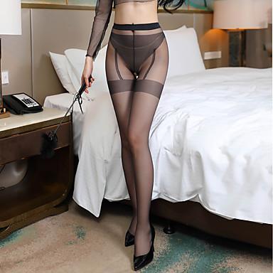 voordelige Nieuwe collectie-Dames Dun Sexy Panty - Effen 30D Zwart Rood Beige Een maat