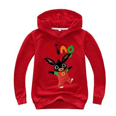 billige Hættetrøjer og sweatshirts til drenge-Børn Baby Drenge Basale Trykt mønster Trykt mønster Langærmet Hættetrøje og sweatshirt Sort
