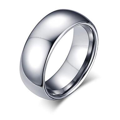 voordelige Herensieraden-Heren Ring 1pc Zilver Wolfraamstaal Geometrische vorm Modieus Dagelijks Feestdagen Sieraden meetkundig Cool