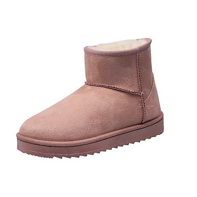 voordelige Dameslaarzen-Dames Laarzen Platte hak Ronde Teen Polyester Winter Zwart / Geel / Roze