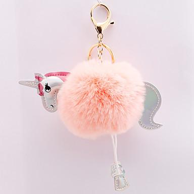 voordelige Dames Sieraden-Sleutelhanger Paard Koreaans Zoet Modieus Modieuze ringen Sieraden Zwart / Licht Roze / Wit Voor Dagelijks Afspraakje