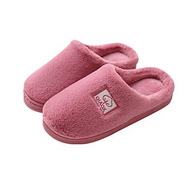 voordelige Damespantoffels & slippers-Dames Slippers & Flip-Flops Platte hak Ronde Teen Imitatiebont Informeel Wandelen Winter Paars / Roze