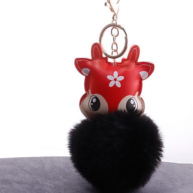 voordelige Dames Sieraden-Sleutelhanger Vos Koreaans Zoet Modieus Modieuze ringen Sieraden Zwart / Bruin / Wijn Voor Dagelijks Afspraakje