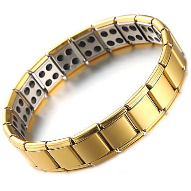 voordelige Herensieraden-Heren Oorbellen / armband Klassiek Lucky Luxe Klassiek modieus Modieus Roestvast staal Armband sieraden Goud Voor Lahja Dagelijks Feestdagen Festival