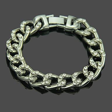 voordelige Herensieraden-Heren Armband Hol Patroon Punk modieus Aluminium Armband sieraden Goud / Zilver Voor Dagelijks