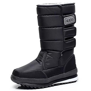voordelige Dameslaarzen-Dames Laarzen Platte hak Ronde Teen Canvas Kuitlaarzen Sportief / Informeel Winter / Herfst winter Zwart / Leger Groen / Blauw