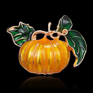 voordelige Dames Sieraden-Dames Broches Zin in hebben Botanisch Statement Uniek ontwerp Kleurrijk Broche Sieraden Geel Voor Feest Halloween valmistuminen Dagelijks Festival