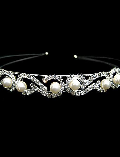 abordables Tiare-Femme Alliage Imitation de perle Casque-Mariage Occasion spéciale Serre-tête