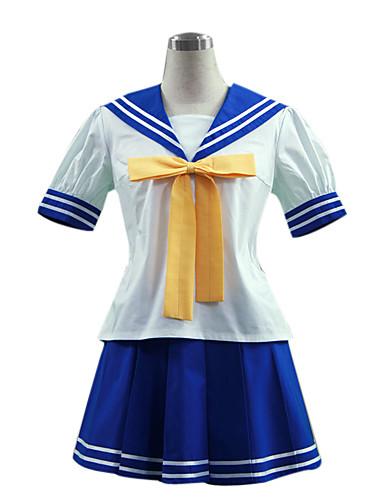 povoljno Anime kostimi-Inspirirana Sretna zvijezda Izumi Konata Anime Cosplay nošnje Japanski Cosplay Suits / School Uniforms Kolaž Kratkih rukava Top / Suknja / Kravata Za Žene