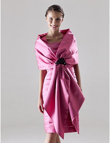 KALIKA - kjole til bryllupsfest eller brudepike i Satin med wrap