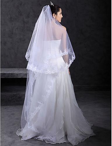 Beautiful 1 Layer Chapel Wedding Veil