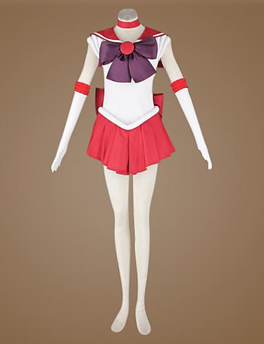 levne Cosplay a kostýmy-Inspirovaný Sailor Moon Sailor Mars Anime Cosplay kostýmy Cosplay šaty Patchwork Vrchní deska Pro Pánské / Dámské