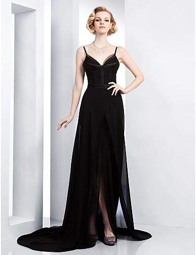 θήκη   στήλη τρένο δικαστήριο σιφόν βραδινό φόρεμα εμπνευσμένο από τη Halle  Berry στο βραβείο Χρυσή Σφαίρα 165692 2019 –  149.99 e4cb23a86c9