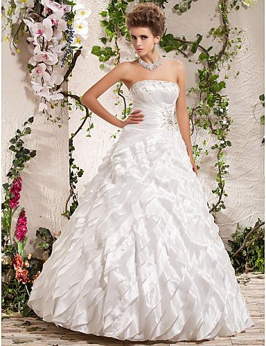 billige Høst 2014-BARIYA - kjole til Bryllupskjole i Taffeta