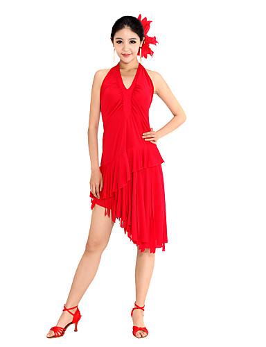 ropa de baile vestido de viscosa baile latino para damas