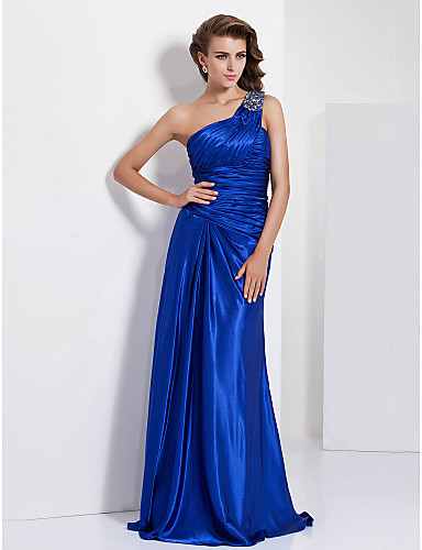 f28ac2ff5db TS Couture Formal Evening   Prom   Military Ball Dress - Royal Blue Plus  Sizes   Petite Sheath Column One Shoulder Floor-length Charmeuse 351448  2019 – ...