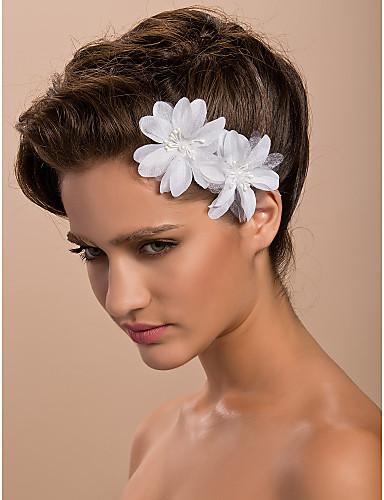 Σατέν Γοητευτικά / Λουλούδια / Καλύμματα Κεφαλής με Φλοράλ 1pc Γάμου / Ειδική Περίσταση / Causal Headpiece