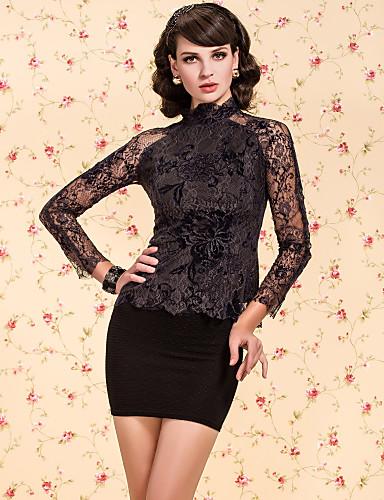 ts do vintage navy gola rebanho camisa impressão blusa de renda