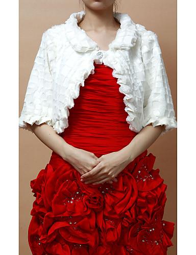 Peles artificiais bela meia manga casamento / noite jaquetas / wraps