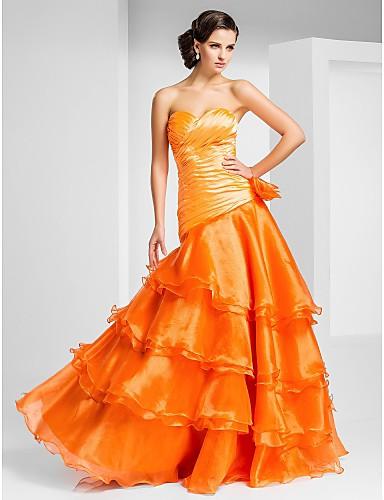A-line bešavne ljubičasta duljina organza prom haljina by ts couture ®