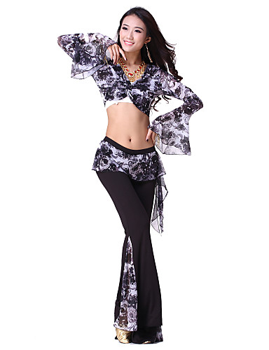 Dancewear Viscose and Chiffon Belly Dance Outfits For Ladies
