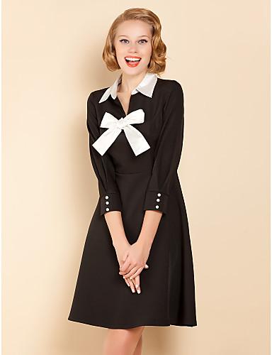 ts μαύρο και άσπρο φόρεμα swing τόξο