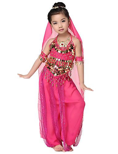 149d2dea Kompletny strój do tańca brzucha dla dzieci szyfonowy z monetami ...