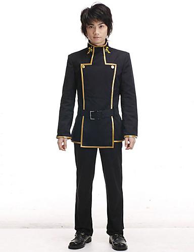 levne Cosplay a kostýmy-Inspirovaný Kód Gease Lelouch Lamperouge Anime Cosplay kostýmy Cosplay šaty Školní uniformy Dlouhý rukáv Kabát Kalhoty Pro Pánské