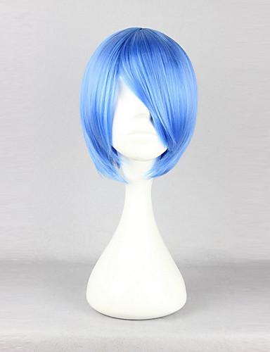 voordelige Cosplay Pruiken-Cosplay Rei Ayanami Cosplaypruiken Dames 12 inch(es) Hittebestendige vezel Blauw Anime