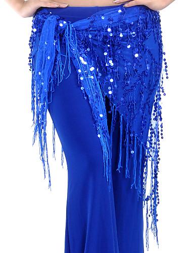 Göbek Dansı Göbek Dansı Hip Şalları Kadın's Eğitim ChinIon Payet / Püsküllü Göbek Dansı Kalça Atkısı
