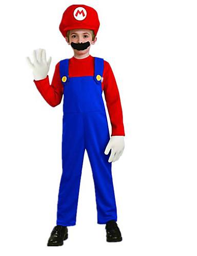 billige Barnekostymer-Superhelter Cosplay Kostumer Party-kostyme Barne Halloween Karneval Festival / høytid polyester Karneval Kostumer Lapper