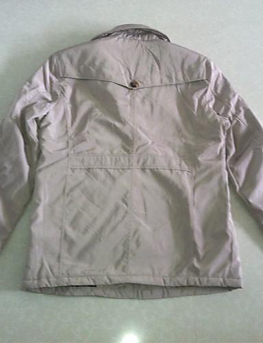 Pánské Long Mai Casual Long / Střední zahustíme Cotton Coat (Light Khaki)