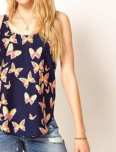 Dámská šifon Butterfly Print Vest