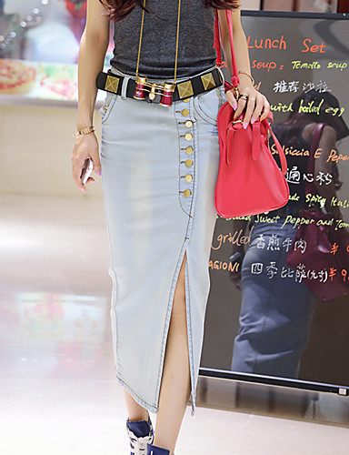 5f436743ed6 Meiku Casual Dress Rozdělit Sukně Dlouhá sukně (barevná obrazovka ...