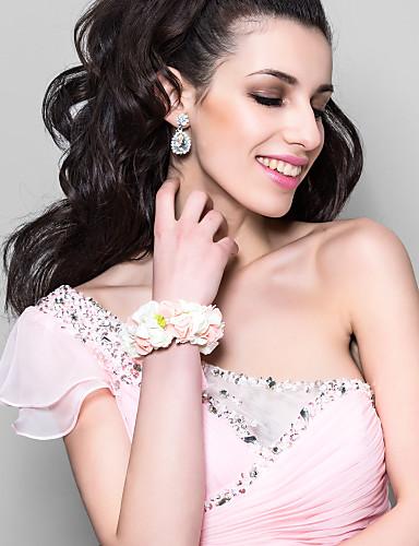 billige Bryllup- & Eventsalg-nydelig hvit med rosa skum blomst bryllup blomsterpike / brude håndleddet blomst
