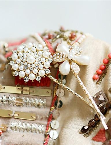 Vivianna Mixed Pearl Diamond And Stone Hairpin(Screen Color)