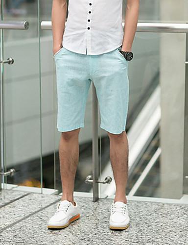 GBS Moda Jednostavni jednobojnu Shorts (Light Blue)