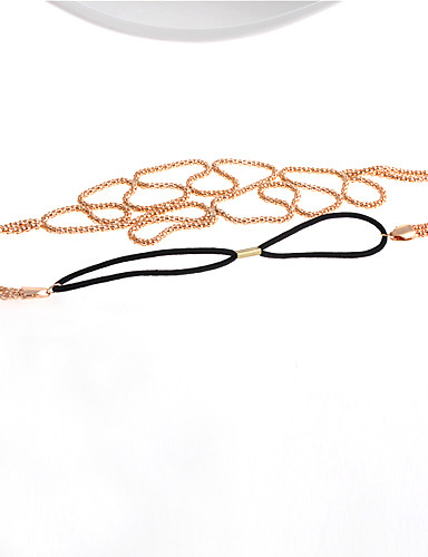 Women's Headband Head Chain,Party Casual Simple Style Cut Out Gold