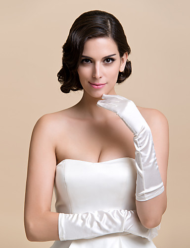 Satin Elbow Length Glove Bridal Gloves Party/ Evening Gloves