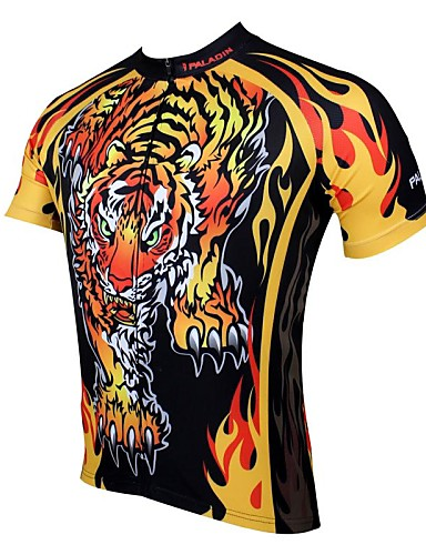 cheap Cycling Clothing-ILPALADINO Men's Short Sleeve Cycling Jersey Animal Cartoon Bike Jersey Top Breathable Quick Dry Ultraviolet Resistant Sports 100% Polyester Mountain Bike MTB Road Bike Cycling Clothing Apparel
